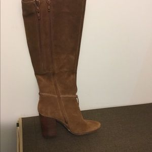 Farm tan suede high boots
